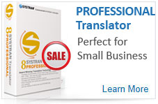 SYSTRAN Professional Translator